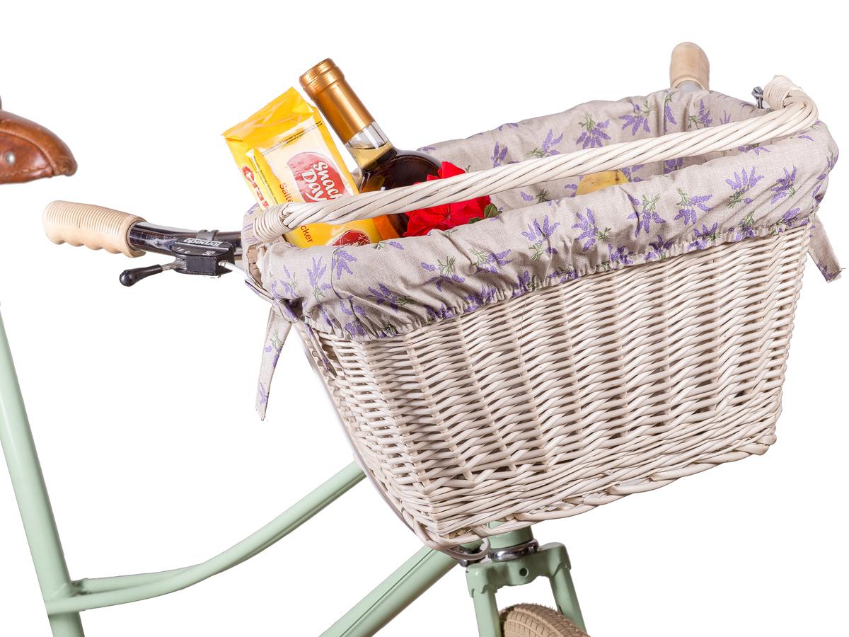 fahrradkorb aus weide vorne gebleicht mit stoff cesta v weidenkorb. Black Bedroom Furniture Sets. Home Design Ideas