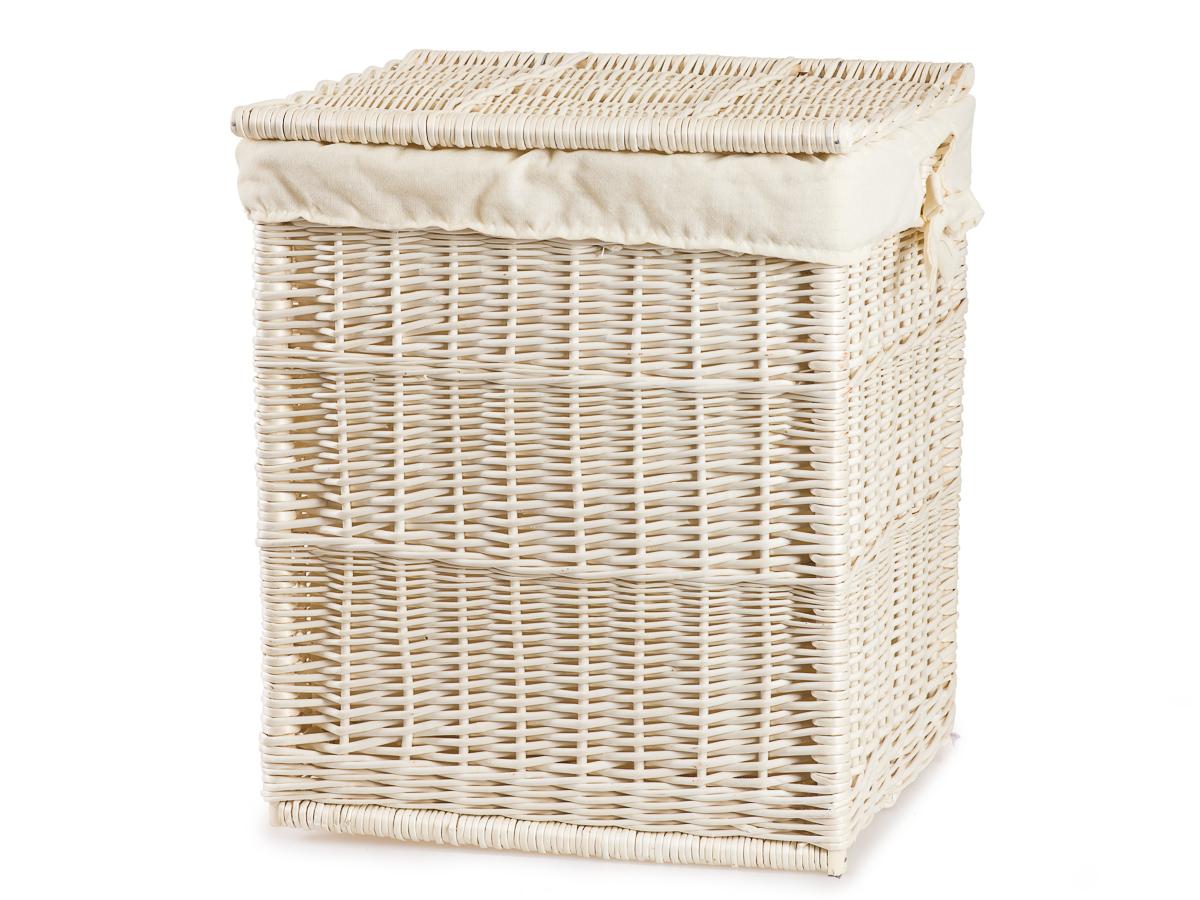 Wäschekorb mit Stoff aus Weide eckig gebleicht Prosop V Weidenkorb jipro de ~ 02051540_Wäschekorb Weide Eckig Mit Deckel