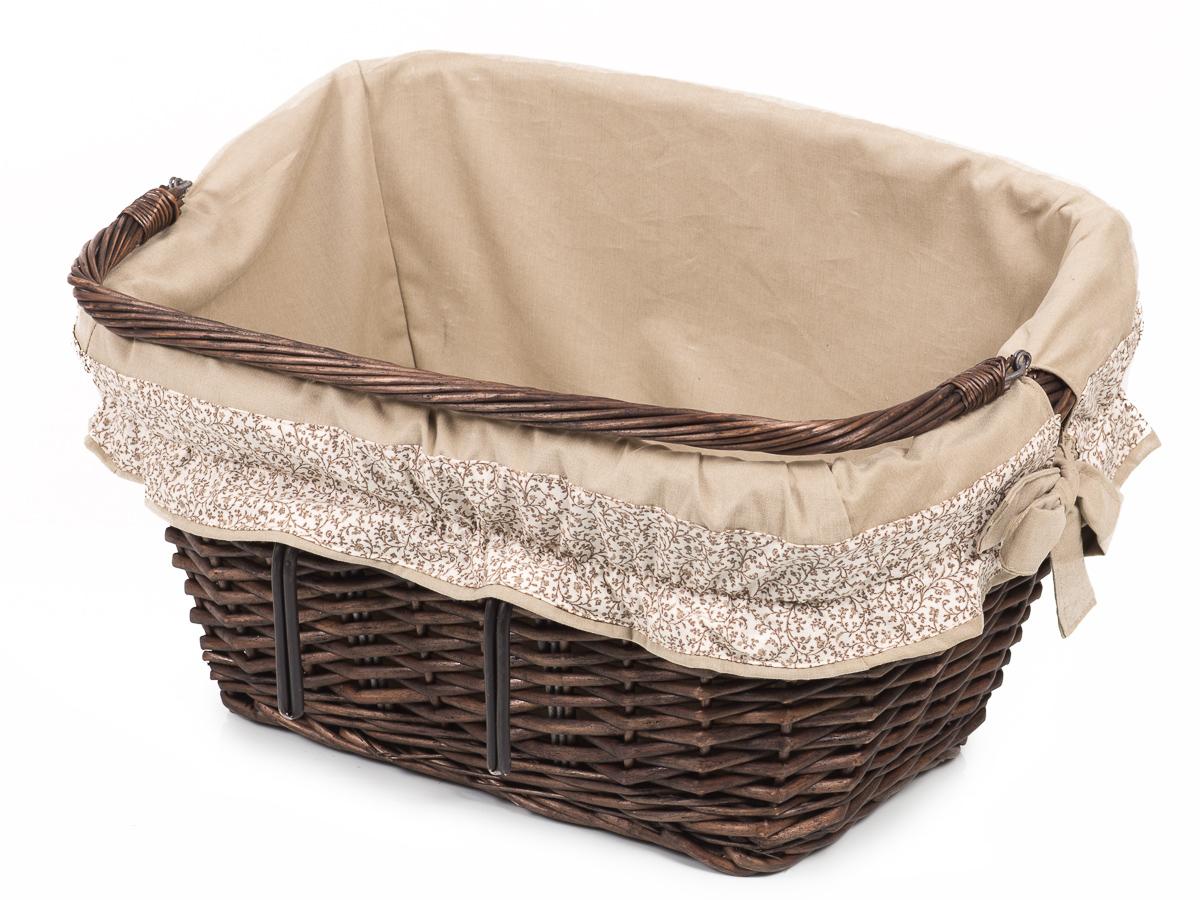 fahrradkorb aus weide vorne provence mit stoff rond iii weidenkorb. Black Bedroom Furniture Sets. Home Design Ideas